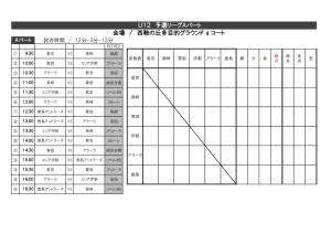 thumbnail of アソビ-ゴカップ大会U-12組み合わせ
